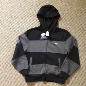 New Champion full zip hoodie. Boys size medium